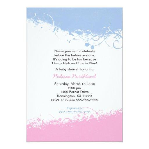 Boy and Girl Twins  Invites