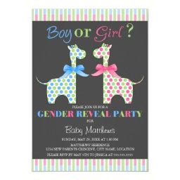 Boy or Girl Giraffe Gender Reveal Party
