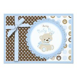 Boy Teddy Bear  Invitation