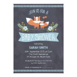 Boys Chalkboard Fox Baby Shower