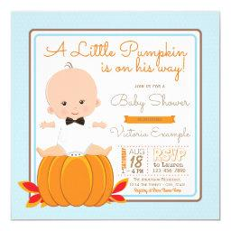 Boys Little Pumpkin Baby Shower