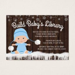 Boys Snowflake Bring a Book Baby Shower