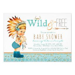 Boys Tribal Boho Wild and Free Baby Shower