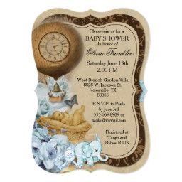 Bracket Vintage Baby Boy Shower