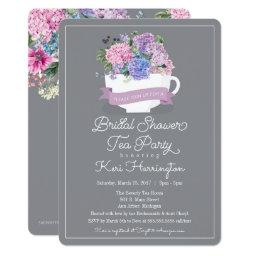 Baby Shower Tea Party  with Hydrangeas