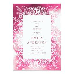 Bright Plum Pink Floral