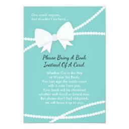 Bring A Book , Baby Shower, Tiffany Blue