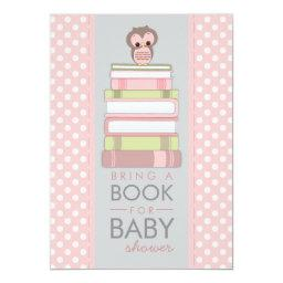 Bring A Book Sweet Girl Owl Baby Shower