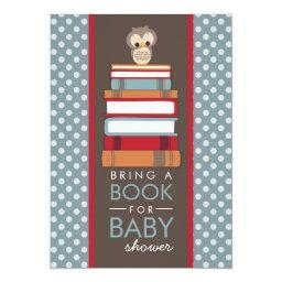 Bring A Book Sweet Owl Baby Shower