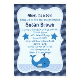 Brody Whale Nautical Baby Shower
