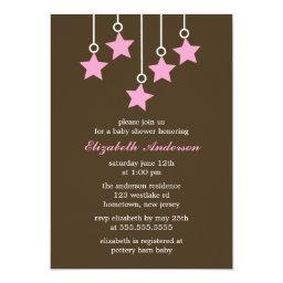 Brown and Pink Mobile Baby Shower