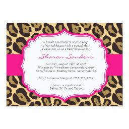 Brown Leopard & Hot Pink Baby Shower