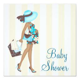 Brown Teal Blue Baby Shower