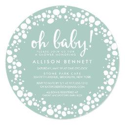 Bubbly Mint | Baby Shower