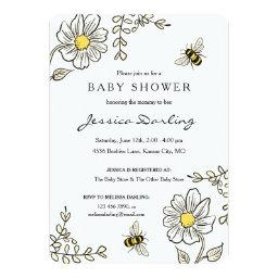 Bumble Bee Baby Shower  | Yellow Floral
