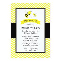 Bumble Bee Chevron Baby Shower