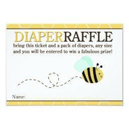 Bumble Bee Shower Diaper Raffle