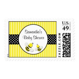 Bumble Bee Striped Polka Dots  Postage