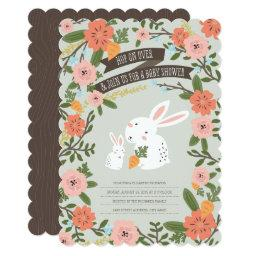 Bunny Love Baby Shower Invite