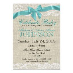 Burlap and Lace Baby Shower