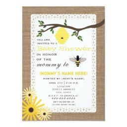 Burlap Inspired Honey Bee Baby Shower
