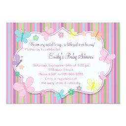 Butterflies Baby Girl Shower