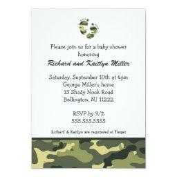 Camo Army Green Baby Feet Shower