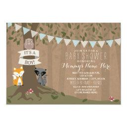 tock Inspired Woodland Baby Shower - Boy