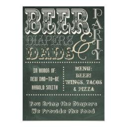 Chalkboard Beer Diapers and Dads