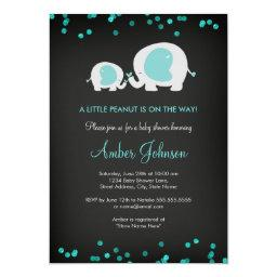 Chalkboard Little Peanut Blue  Invite