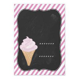 Chalkboard Look Ice Cream