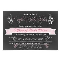 chalkboard pink Couple's Baby shower