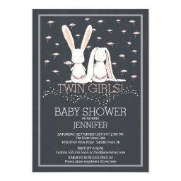 Chalkboard Sweet TWIN Girls Bunny Baby Shower