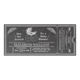 Chalkboard Vintage  Ticket