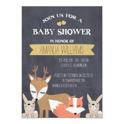 Chalkboard Woodland Baby shower