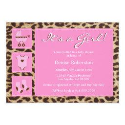 Cheetah - It's a Girl! - Baby Shower