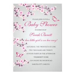 Cherry Blossoms Baby Shower Invitation