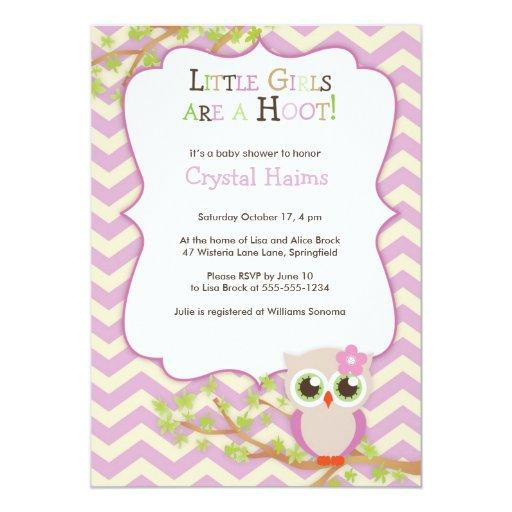 baby shower chevron owl themed baby shower invitations girl