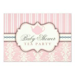 Chic Damask & Stripe  Tea