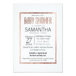 Chic Faux Rose Gold Baby Shower