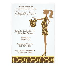 Chic Giraffe Print Baby Shower