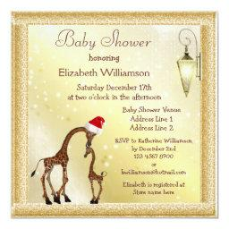 Chic Mom & Baby Giraffe Christmas