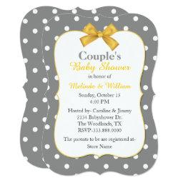 Chic Polka Dot Couple's Baby Shower