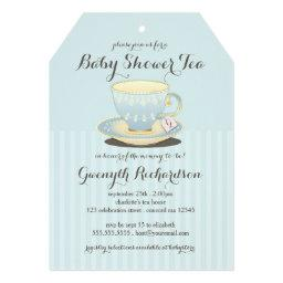 Chic Teacup in Blue  Tea Party