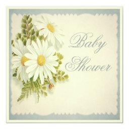 Chic Vintage Daisies Baby Shower