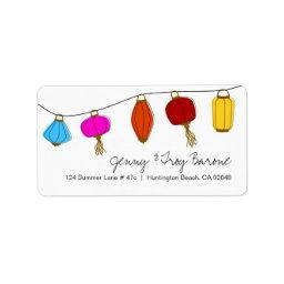 Chinese Lantern Address Labels