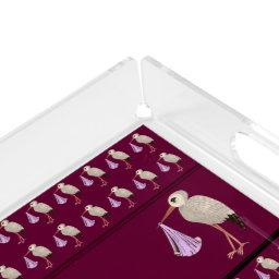 Classic Stork (Pink) 1 Acrylic Tray