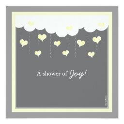 Clouds & Hearts Baby Shower  | Yellow