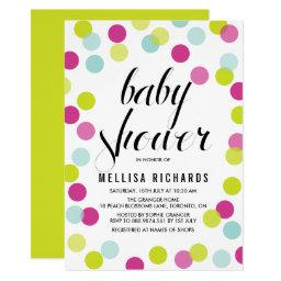 Colorful Confetti Frame Baby Shower