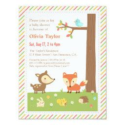 Colourful Woodland Animal Baby Shower